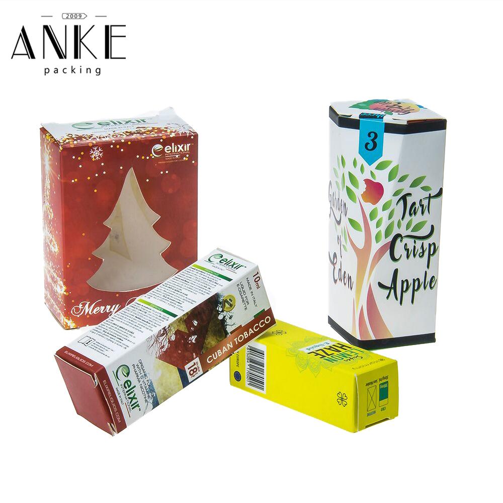 ई तरल बोतल के लिए मुद्रण के साथ OEM एकल पेपर बॉक्स